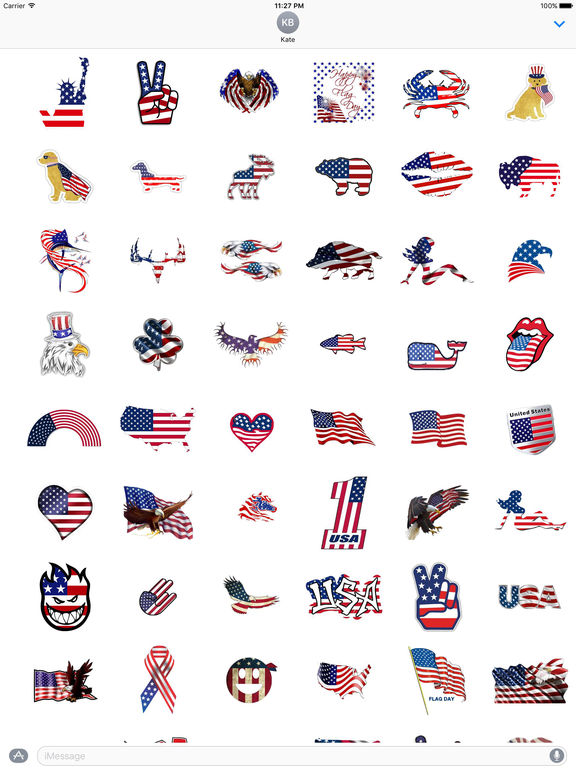 Happy Flag Day 2017 Sticker screenshot 5