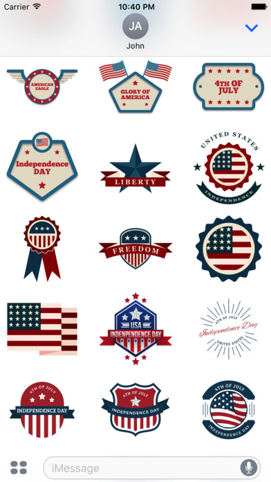 4th of July - 120+ Badge Independence Day Stickers screenshot 4