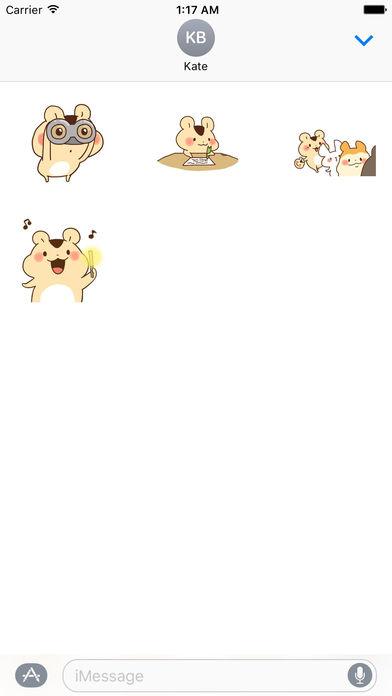 Animated Adorable Hamster Sticker Packs screenshot 2