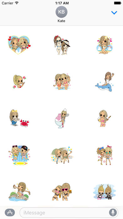 Beautiful Girls in Summer Sticker screenshot 1