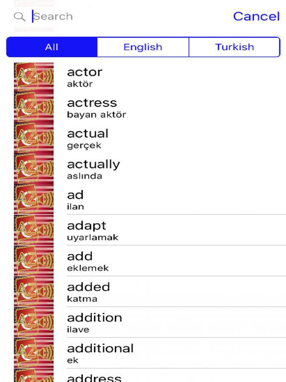 Turkish Dictionary GoldEdition screenshot 7