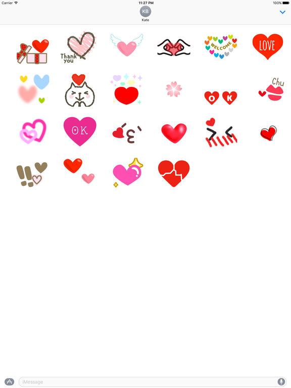 Animated Sweet Heart Heartmoji Sticker screenshot 3