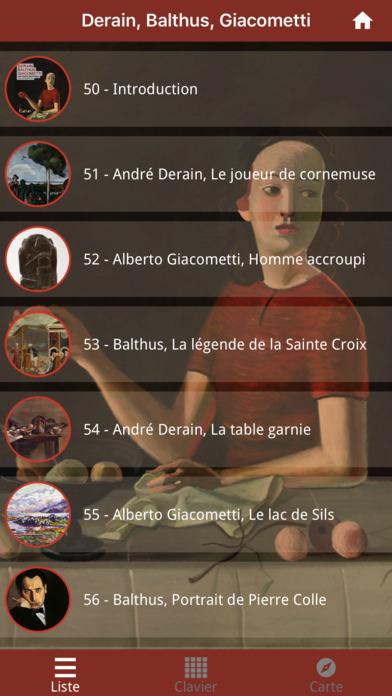 Derain, Balthus, Giacometti screenshot 2