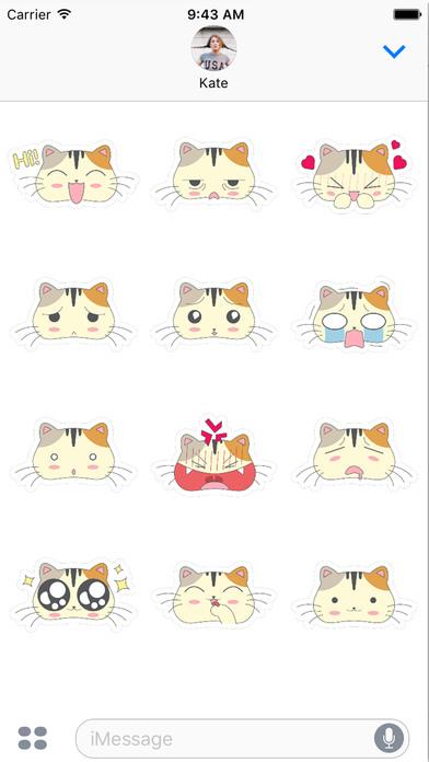 Fun Cat Emoji Sticker Pack - say it the catty way! screenshot 1
