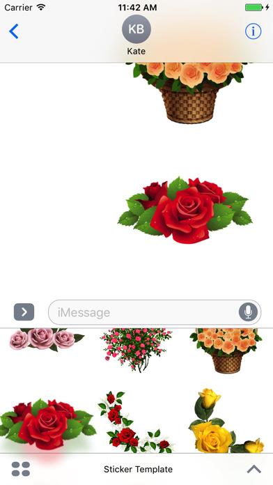 Flower Bouquets Bundle Stickers screenshot 5