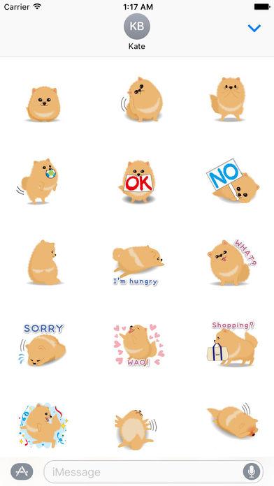 Pomeranian Dog - Pommoji  Moji & Sticker screenshot 1