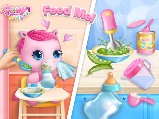 Pony Sisters Baby Horse Care - Babysitter Daycare screenshot 10
