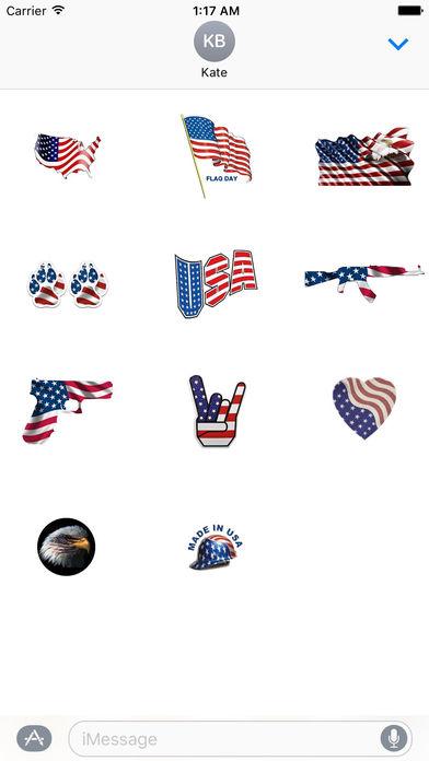Happy Flag Day 2017 Sticker screenshot 4
