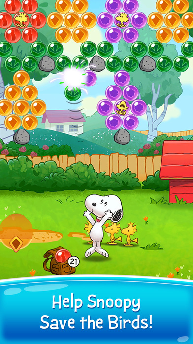 Bubble Shooter - Snoopy POP! screenshot 1