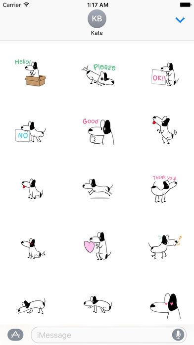 Funny Bull Terrier Dog Sticker screenshot 1