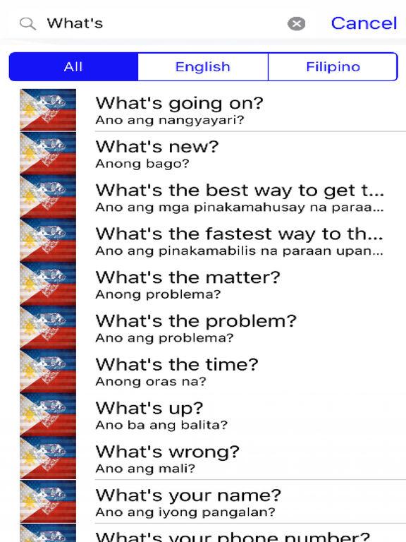 Filipino Phrases Diamond 4K Edition screenshot 5
