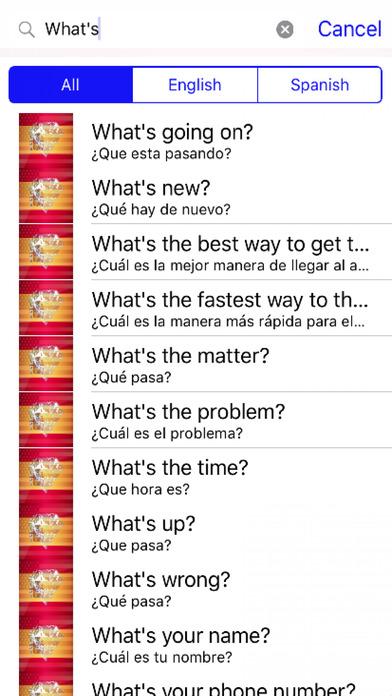 Spanish Phrases Diamond 4K Edition screenshot 2