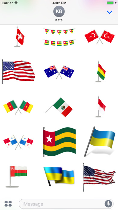 Flags Stickers Pack screenshot 2