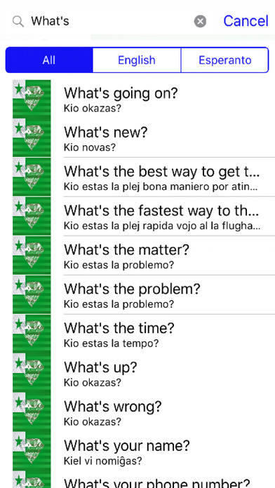 Esperanto Phrases Diamond 4K Edition screenshot 2