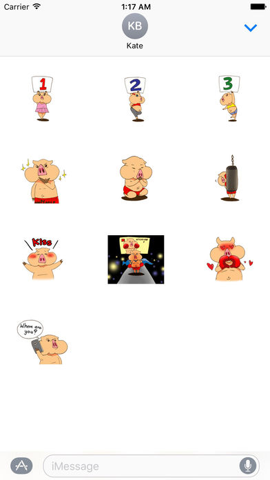 Muay Thai Martial Arts with Cute Pig Sticker screenshot 3
