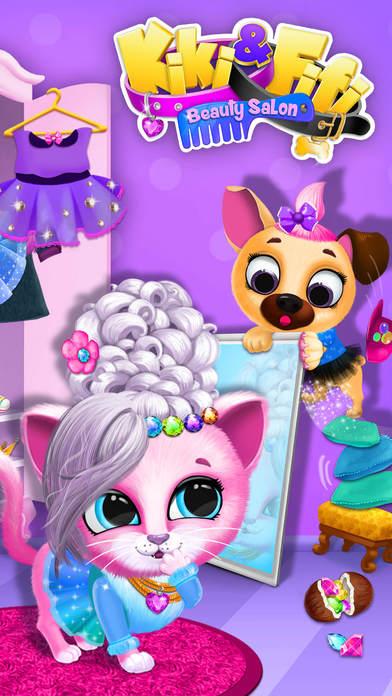 Kiki & Fifi Pet Beauty Salon - No Ads screenshot 1
