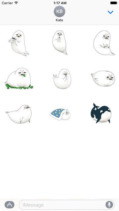 Animated Cute Seal Stickers screenshot 2