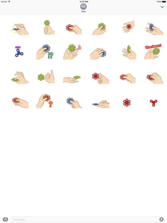 Animated Fidget Spinner Sticker screenshot 3