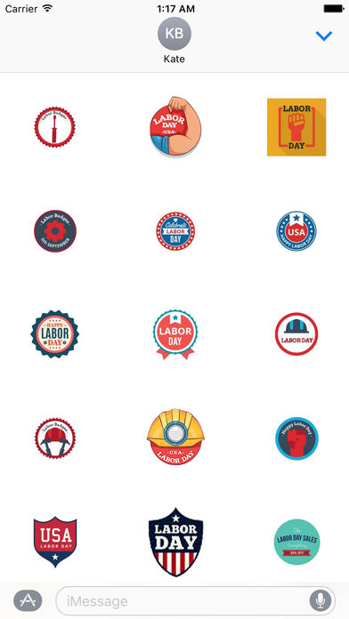 Happy Labor Day 2017 Sticker screenshot 1