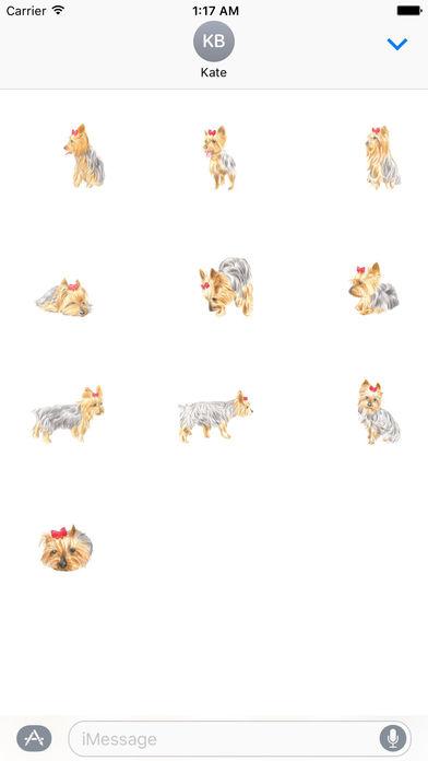 Yorkie Dog Stickers screenshot 3