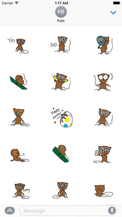 Cute and Shy Tarsier Sticker screenshot 2