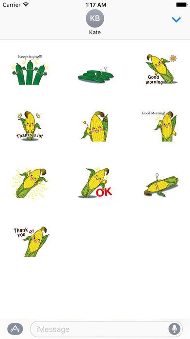 Funny Vegetables Emoji Sticker screenshot 3