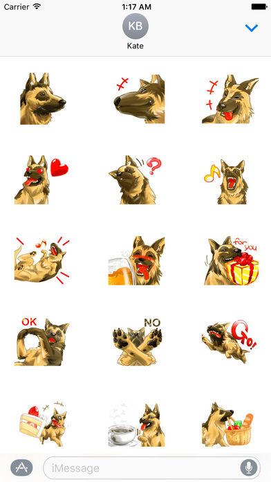 Blondi The Smart German Shepherd Dog Sticker screenshot 1