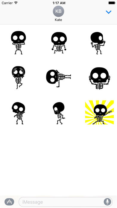 Funny Skeleton Animated Sticker screenshot 2