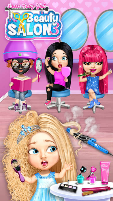 Sweet Baby Girl Beauty Salon 3 - No Ads screenshot 1