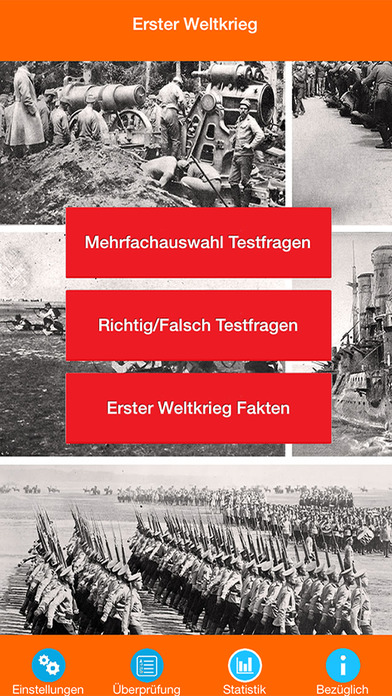 Der Erste Weltkrieg Quiz screenshot 1