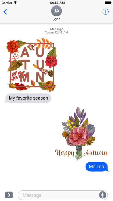 Autumn Love - Most Beautiful Autumn Stickers screenshot 2