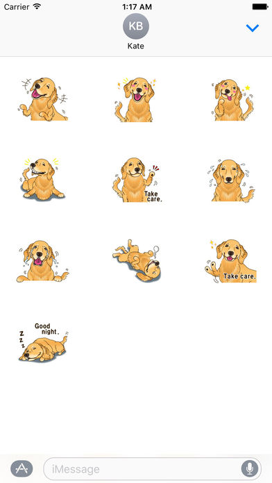 Storm The Brave Golden Retriever Dog Sticker screenshot 3