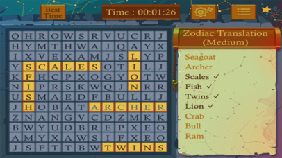 Astrology Word Finder screenshot 2