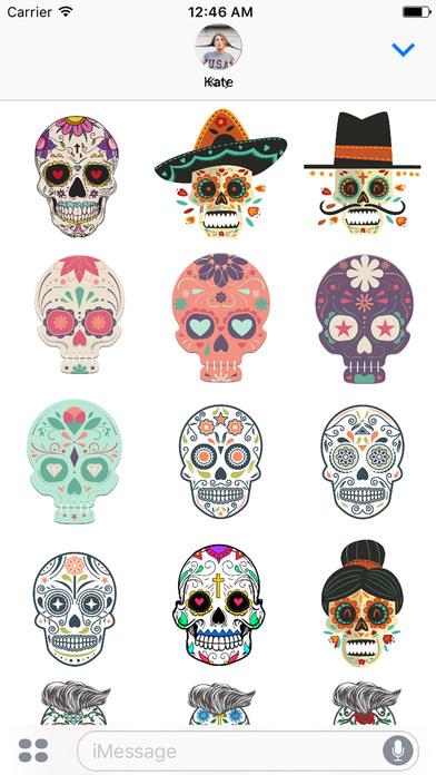 Dias de los Muertos - Colorful Sugar Skulls screenshot 3