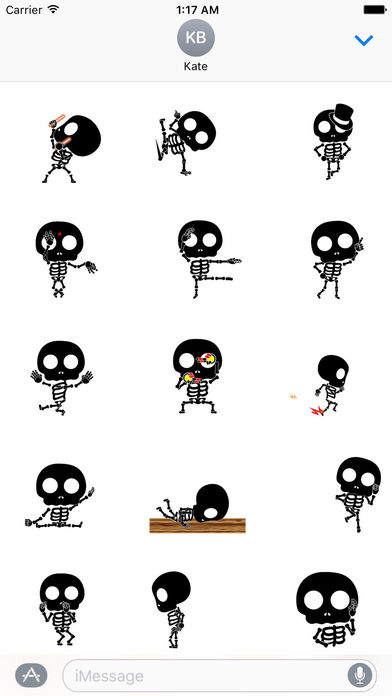 Funny Skeleton Animated Sticker screenshot 1