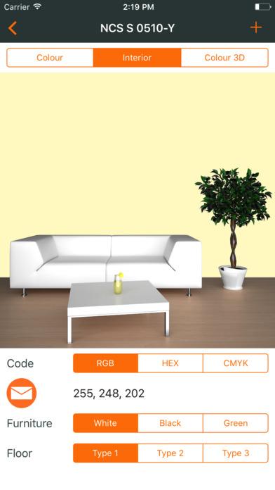 Ncs color chart. 3D fan deck screenshot 2