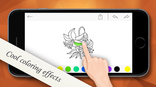 iColor for iPhone for painting, kids coloring screenshot 1