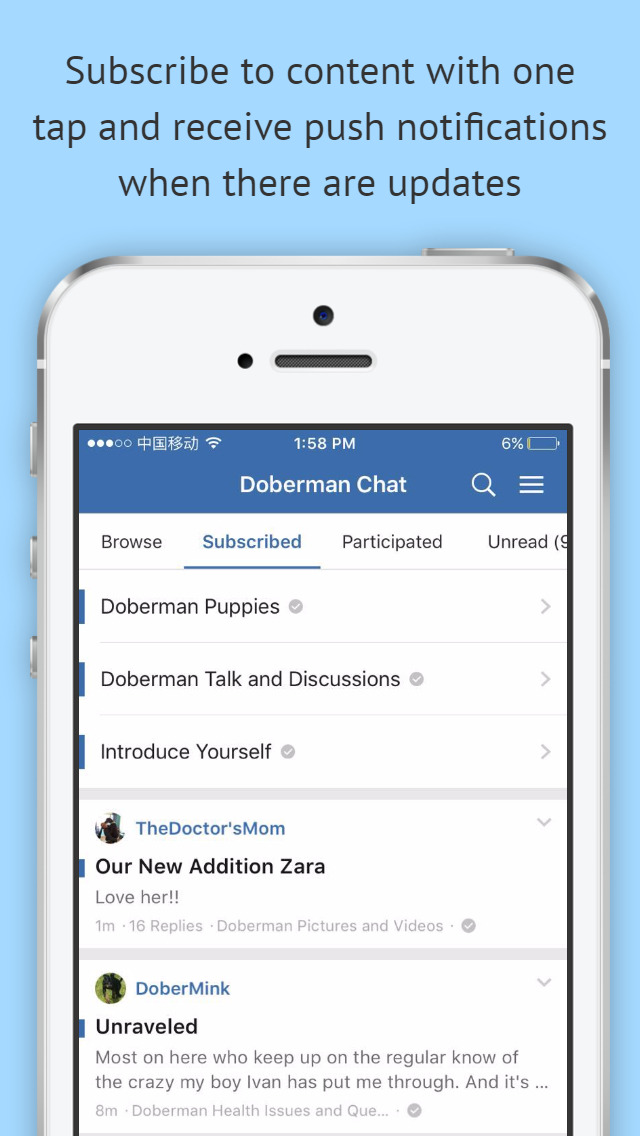 Doberman Chat Community screenshot 3