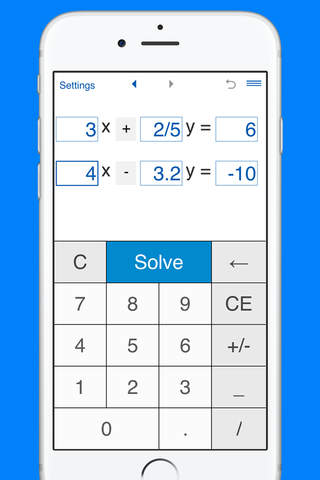 System of linear equations solver and calculator f - náhled