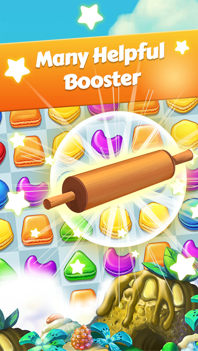 Candy Jam Super - Cookie Yummy Mania Blast screenshot 2