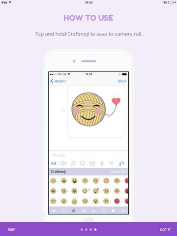 Craftmoji - the cute craft sticker App screenshot 6