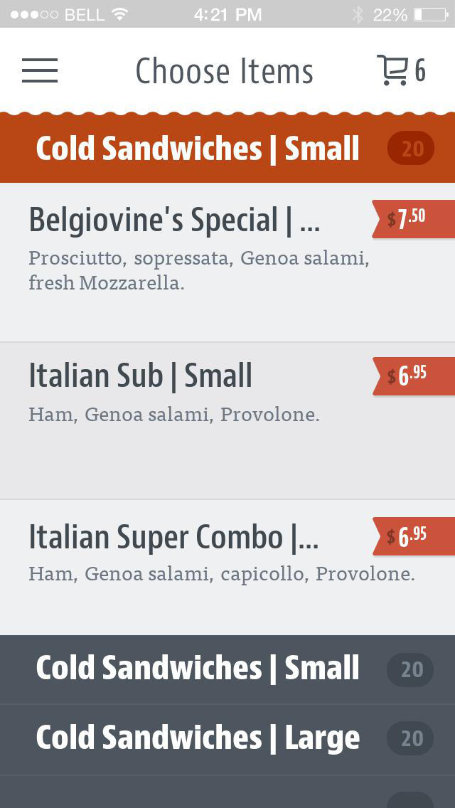 Belgiovine's To Go screenshot 3
