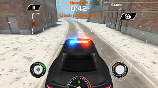 Arctic Police Racer 3D - eXtreme Snow Road Racing Cops FREE Game Version screenshot 5