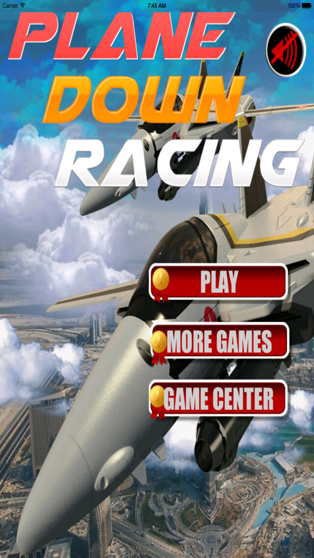 Plane Down Racing PRO - F16 Mobile Fly War Game screenshot 1