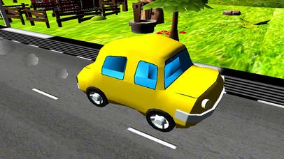 Turbo Car Racing : Cartoon Drive Free Game screenshot 3