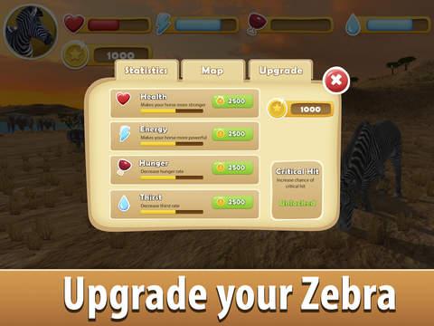 Zebra Simulator 3D - African Horse Survival screenshot 8