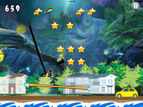 A Girl Jumping On The Enchanted Land - Super Magic Game Jumps screenshot 9