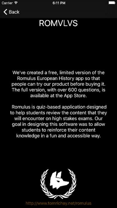 Romulus European History LITE screenshot 4
