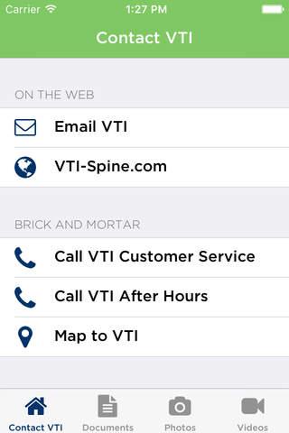 VTI Connect App - náhled
