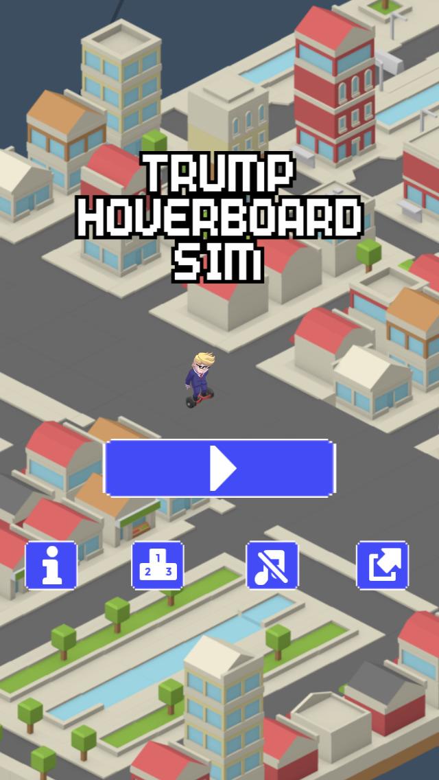 Trump Hoverboard Sim - Mannequin Race Challenge screenshot 1